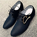 رخيصةأون أحذية سليب أون وأحذية مفتوحة للرجال-للرجال PU صيف مريح أوكسفورد أبيض