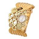 billige Trendy klokker-Dame Armbåndsur Japansk Imitasjon Diamant Legering Band Fritid / Mote Sølv / Gylden / Ett år