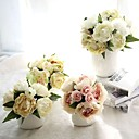 cheap Artificial Flower-Artificial Flowers 1 Branch European Style Peonies Tabletop Flower