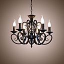 cheap Chandeliers-6-Light Candle-style Chandelier Ambient Light - Candle Style, 110-120V / 220-240V Bulb Not Included / 10-15㎡ / E12 / E14