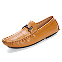 cheap Men's Slip-ons & Loafers-Men's Cowhide Summer / Fall Comfort Loafers & Slip-Ons Walking Shoes Black / Dark Blue / Brown