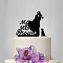 hesapli Anahtarlık Hediyelikleri-Pasta Üstü Figürler Klasik Tema / İnsan / Düğün Klasik Çift Plastik Düğün ile 1 pcs Poli Çanta
