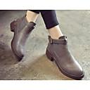 preiswerte Damen Stiefel-Damen Schuhe PU Leder Frühling Winter Springerstiefel Modische Stiefel Komfort Stiefel für Normal Schwarz Grau Braun Burgund