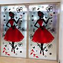 abordables Decoraciones de Fiesta-Art Decó Navidad Adhesivo para Ventana, PVC/Vinilo Material decoración de la ventana Salón