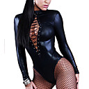 cheap Uniforms Accessories-More Costumes Cosplay Costume Women's Sexy Uniforms More Uniforms Christmas Halloween Carnival Festival / Holiday Patent Leather Outfits Black