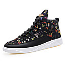 cheap Men's Sneakers-Men's Canvas Spring / Fall Comfort Sneakers Black / Black / Gold / Black / White