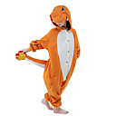 cheap Kigurumi Pajamas-Kid's Kigurumi Pajamas Cartoon Dragon Onesie Pajamas Polar Fleece Orange Cosplay For Boys and Girls Animal Sleepwear Cartoon Festival / Holiday Costumes