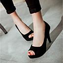preiswerte Damen Sandalen-Damen Schuhe PU Sommer Komfort Sandalen Schwarz / Purpur / Rot