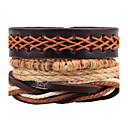 cheap Men's Bracelets-Men's Women's Wrap Bracelet Leather Bracelet - Leather Dreamcatcher Personalized, Rock, Fashion Bracelet Brown For Daily Casual Stage
