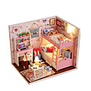 cheap Doll Houses-Dollhouse Model Building Kit DIY Wood Princess 1pcs Pieces Kid's Gift