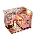 preiswerte Puppenhäuser-Puppenhaus Modellbausätze Heimwerken Holz Prinzessin 1pcs Stücke Kinder Geschenk