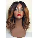 cheap Human Hair Wigs-Human Hair Glueless Full Lace / Full Lace Wig Loose Wave / Natural Wave Ombre Wig 130% Ombre Hair / Natural Hairline / African American Wig Ombre Women's Short / Medium Length / Long Human Hair Lace
