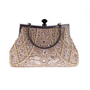 cheap Fans & Parasols-Women's Bags Polyester Evening Bag Rhinestone / Pearls Gray / Purple / Navy Blue