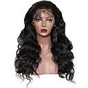 olcso Szemhéjfestékek-Emberi haj Tüll homlokrész Csipke eleje Paróka Hullámos Hullámos haj Paróka Természetes hajszálvonal Afro-amerikai paróka 100% kézi csomózású Női Közepes Hosszú Emberi hajból készült parókák