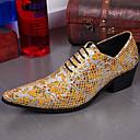 baratos Oxfords Masculinos-Homens Sapatos formais Pele Napa Outono / Inverno Oxfords Aventura Dourado / Prata / Festas & Noite / Sapatas de novidade