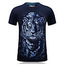 billige Kostymeparykk-Bomull Rund hals Store størrelser T-skjorte Herre - Dyr, Trykt mønster Aktiv Sport Tiger / Kortermet