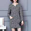 cheap Smartwatch Accessories-Women's Plus Size Sheath Dress Print V Neck