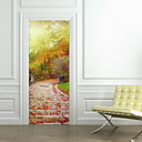 cheap Christmas Decorations-Landscape Wall Stickers 3D Wall Stickers Door Stickers, Plastic Home Decoration Wall Decal Wall