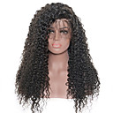 cheap Human Hair Wigs-Human Hair Lace Front Wig Curly / Kinky Curly Wig 130% Natural Hairline / African American Wig / 100% Hand Tied Women's Medium Length / Long Human Hair Lace Wig