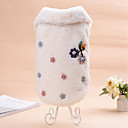cheap Kigurumi Pajamas-Cat Dog Sweatshirt Dog Clothes Floral/Botanical Beige Coffee Flannel Fabric Costume For Pets Casual/Daily Keep Warm Wedding New Year's