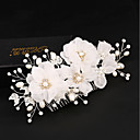 cheap Marble Track Sets-Tulle / Imitation Pearl / Silk Hair Combs / Flowers / Hair Clip with 1 Wedding / Special Occasion / Birthday Headpiece