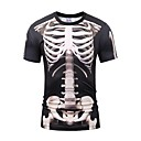cheap Men's & Women's Halloween Costumes-Skeleton / Skull Cosplay Cosplay Costume Men's Unisex Halloween Carnival Day of the Dead Festival / Holiday Halloween Costumes Outfits Gray & Black Vintage