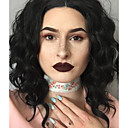 cheap Earrings-Synthetic Lace Front Wig Wavy Synthetic Hair Black Wig Women's Short Lace Front