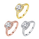 baratos Anéis-Mulheres Zircônia Cubica Anel de banda - Zircão Fashion 5 / 6 / 7 Dourado / Prata / Ouro Rose Para Festa / Diário