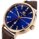 cheap CCTV Cameras-Men's Sport Watch Wrist Watch Quartz 30 m Calendar / date / day Creative Cool Genuine Leather Band Analog Charm Luxury Casual Black / Brown - Black Brown Blue Two Years Battery Life / Maxell SR626SW