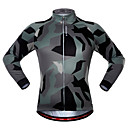 cheap Wall Decor-WOSAWE Long Sleeve Cycling Jersey - Camouflage Camouflage Bike Jersey, Quick Dry Polyester, Spandex