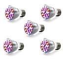 baratos Luz LED Ambiente-5pçs 5W 800lm E14 GU10 E27 Lâmpada crescente 28 Contas LED SMD 5730 Branco Quente Branco Azul Vermelho 85-265V