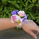 "cheap Wedding Flowers-Wedding Flowers Wrist Corsages Wedding Organza Satin 3.94""(Approx.10cm)"