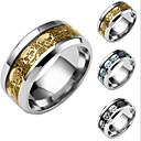 cheap Earrings-Men's Band Ring - Titanium Steel Skull 6 / 7 / 8 Gold / Black / Dark Blue For Daily