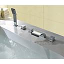 abordables Grifos de Bañera-Grifo de bañera - Moderno Cromo Muy Difundido Válvula Latón