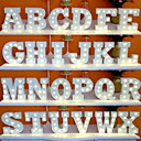 cheap Birthday Home Decorations-1pc 26 Letters Alphabet LED Night Light Battery Powered Creative / Wedding / Decoration