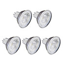 abordables Luces LED de 2 Pin-5pcs 6W 1lm GU10 Focos LED MR16 1 Cuentas LED COB Blanco Cálido Blanco Fresco 220V