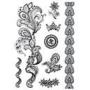 abordables Tatuajes de aerógrafo-1 Non Toxic Modelo Halloween Talla Grande Tribal Parte Lumbar Waterproof Otros Tatuajes Adhesivos