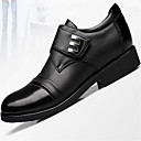 cheap Men's Slip-ons & Loafers-Men's Leather Spring / Fall Comfort Oxfords Black / Dark Brown