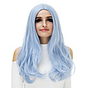 cheap Synthetic Capless Wigs-Synthetic Wig Natural Wave Blonde Synthetic Hair Blue / Blonde / Pink Wig Women's Capless