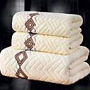 זול סט מגבות מקלחת-איכות מעולה סט מגבות אמבטיה, סרוג 100% כותנה חדר אמבטיה