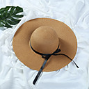 cheap Ceiling Lights-Women's Hat Straw Hat Sun Hat - Solid Colored Pure Color