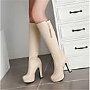 cheap Women's Boots-Women's Shoes PU(Polyurethane) Fall Comfort Boots White / Black / Almond