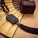 olcso Autós függők, díszítőelemek-DIY autóipari függők kínai stílusú kínai csomót buddha gyöngyök autó medál&Fából készült díszek
