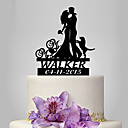 cheap Wedding Decorations-Cake Topper Classic Theme / People / Wedding Classic Couple Plastic Wedding / Anniversary with 1 pcs Poly Bag