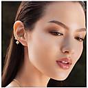 cheap Men's Rings-Women's Cubic Zirconia Clip Earrings - Zircon, Silver Plated Bohemian, Fashion, Cute Silver For Wedding / Gift / Daily