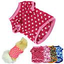 abordables Accesorios para Animales Pequeños-Gato Perro Camiseta Pijamas Ropa para Perro A Lunares Rosa Marrón Azul Rosa # 5 Lana Polar Disfraz Para mascotas Hombre Mujer Mantiene