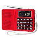 olcso Rádió-Y-916 FM / AM Hordozható rádió MP3 lejátszó TF kártya Világvevõ Ezüst / Piros / Kék