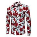 cheap Men's Oxfords-Men's Chinoiserie Cotton Shirt - Check Classic Collar / Long Sleeve