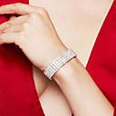 preiswerte Modische Armbänder-Damen Tennis Kette Tennis Armbänder / Armband - Strass, versilbert, Diamantimitate Luxus, Modisch, Elegant Armbänder Silber Für Hochzeit / Party / Jahrestag