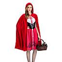 abordables Déguisement Halloween-Déguisement Halloween Femme Le petit Chaperon rouge Robes Costume de Cosplay Manteau Noël Halloween Carnaval Rouge Costumes Carnaval